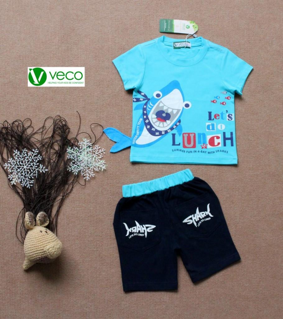 Quần áo trẻ em giá sỉ tại TPHCM - Bộ thun cá mập