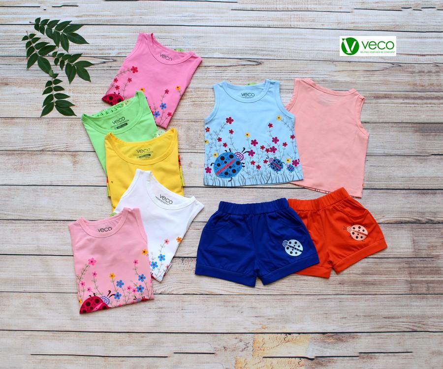 Quần áo trẻ em giá sỉ tại TPHCM - bộ sọt bé gái hoa và bọ cánh cam
