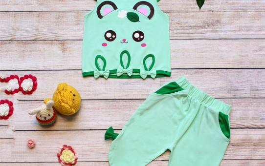 Quần áo trẻ em giá sỉ tại TPHCM - Bộ lửng tai gấu cute