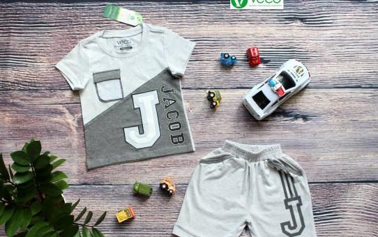 Quần áo trẻ em giá sỉ tại TPHCM - Bộ thun chữ J