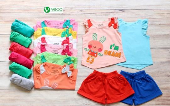 Quần áo trẻ em giá sỉ tại TPHCM - Bộ sọt thỏ bear